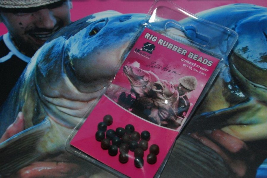 LK Baits Rig Rubber Beads méret 8 mm, 20 darabos