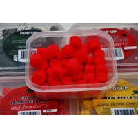 LK Baits Fluoro Hook Pellets Wild Strawberry 150ml, 12mm